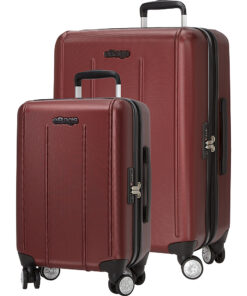 eBags EXO 2.0 Hardside Spinner 2pc Set Metallic Red - eBags Luggage Sets