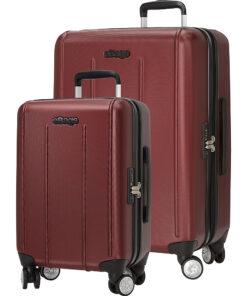 eBags EXO 2.0 Hardside Spinner 2pc Set Metallic Red - eBags Luggage Sets