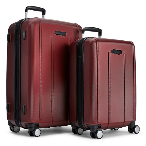 eBags EXO 2pc Spinner Metallic Red - eBags Luggage Sets