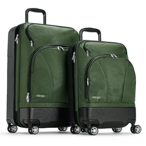 eBags Mother Lode 2pc Spinner Army Green - eBags Luggage Sets