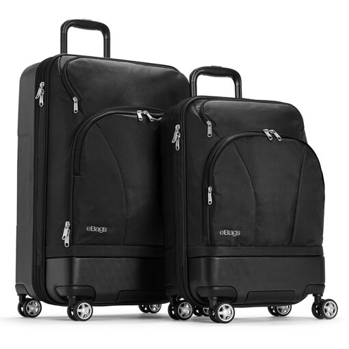 eBags Mother Lode 2pc Spinner Black - eBags Luggage Sets
