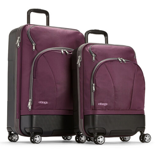 eBags Mother Lode 2pc Spinner Eggplant - eBags Luggage Sets