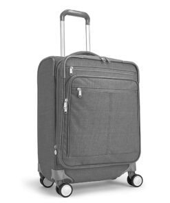 "eBags Piazza 22"" Carry-On Spinner Heathered Graphite - eBags Softside Carry-On"