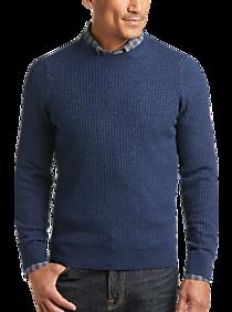 Joseph Abboud Stone Blue Performance Knit Sweater