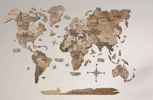 3d wood map