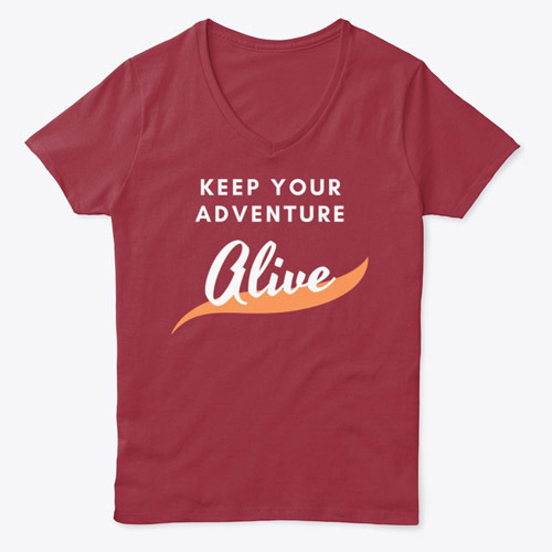 keep your adventure alive women's tee