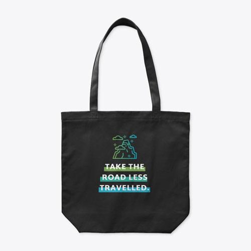 Take the road organic travel tote bag