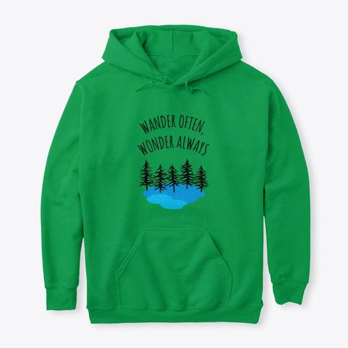 Wander often wonder always travel hoodie