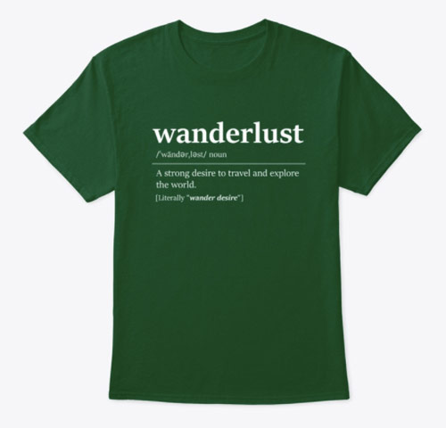 Wanderlust men's travel t-shirt