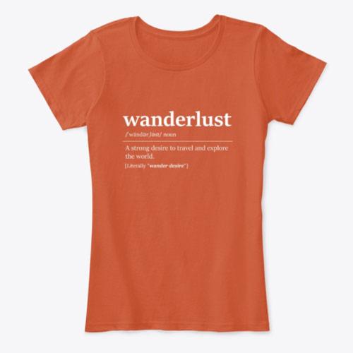 Wanderlust women's travel t-shirt