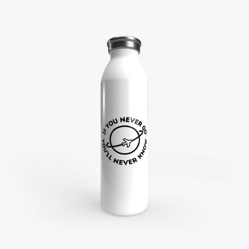 If you never go water bottle