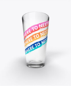 Where to Next? Pint glass